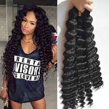 crochet braids with human hair deep wave human braiding hair bulk no weft crochet braids with