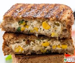 Cooking Cottage Cheese by Grilled Cheese Paneer U0026 Corn Sandwich Cook With Manali
