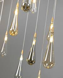 Cutlery Chandelier Pendant Lamp Contemporary Blown Glass Adjustable Breath