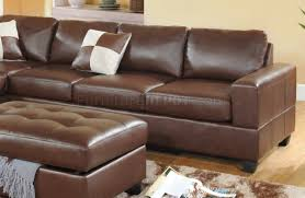 bonded leather modern sectional sofa w storage ottoman