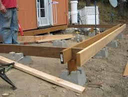 building a freestanding deck with deck blocks home design ideas