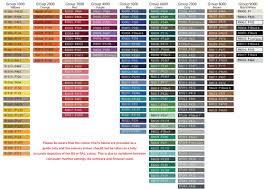 ral colour chart real fitness