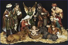 15 11pc resin nativity set