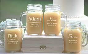 Personalized Mugs For Wedding 12 Engraved Wedding Mason Jar Mugs Personalized Wedding Party