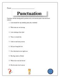 punctuation worksheet by kristina glover teachers pay teachers