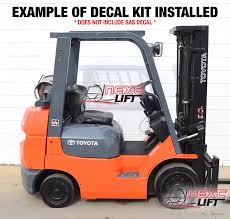 toyota forklift decal kit 8fgcu25 8fgu25 fork lift decals 7 u0026amp