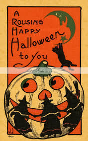 digital download printable art deco halloween vintage antique