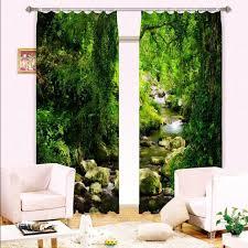 chambre à coucher sur mesure vert forêt 3d rideau fenêtre blackout rideaux pour chambre à coucher