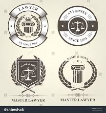 bureau com attorney lawyer bureau emblems badges เวกเตอร สต อก 580065889