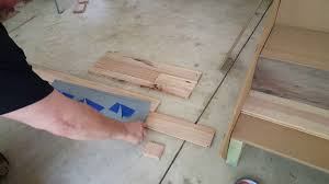 Laminate Flooring Stair Nose Installation Install Zamma Flush Stair Nose For Hardwood Floor Youtube