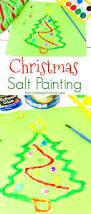 how to make christmas salt painting with kids