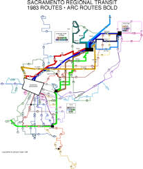 Sacramento Light Rail Map A Historical Look At Transit Service At American River College
