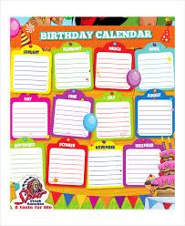 birthday calendar template birthday calendar template birthday