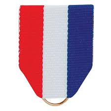 white blue ribbon pin back ribbon white blue