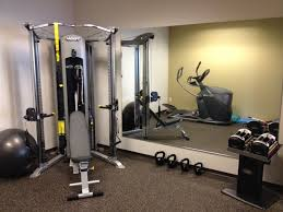 Home Gym Decor Ideas Interior Trendy Small Home Gym Decor Ideas With Big Wall Mirror