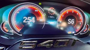 ferrari speedometer top speed bmw 5 series g30 540i acceleration and top speed 0 254 km h