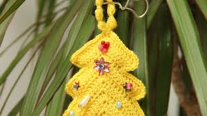 how to crochet a christmas tree decoration diy crafts tutorial