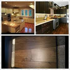 Off White Or Dark Kitchen Cabinets Hardwood Floor Is A Medium Brown - Medium brown kitchen cabinets