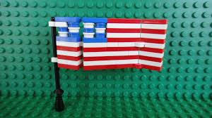 The Flag Of Usa How To Build A Lego United States Of America Flag Youtube
