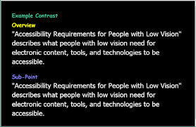 Assistive Technology For Blindness And Low Vision Accessibility Requirements For People With Low Vision