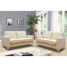 Sutton Cream Leather Sofa Collection - Cream leather sofas