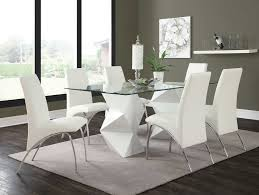 Coaster Dining Room Sets Ophelia White Contemporary Dining Table Coaster 121571