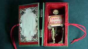 gothic horror birthday card box youtube