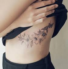 collection of 25 big leaves vine tattoos on ribs