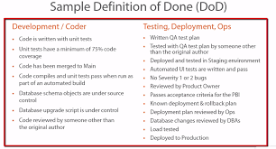 completed definition definition of done dod in agile scrum what exactly is it