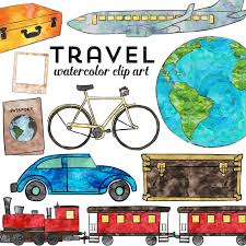 travel clipart images Travel clipart watercolor travel clip art instant download jpg