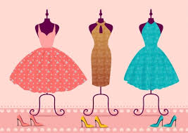 fashion logotype sketch dress icon design free vector in adobe