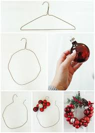 how to make a ornament wreath with a wire hanger hometalk