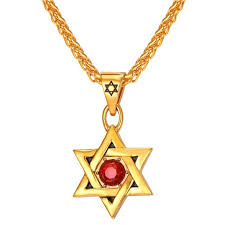men gold necklace pendant images Collare magen david star necklaces pendants gold color stainless jpg