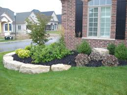 image of easy landscaping ideas for front house small yard