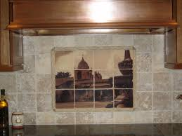 Tiled Fireplace Wall by Marble Tile Murals Pacifica Tile Art Studio