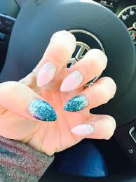 mermaid glitter stiletto nails angela b spokane wa nails
