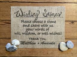 burlap wishing stones sign wedding burlap decor