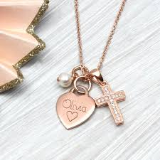 cross rose gold necklace images Personalised petite rose gold heart and cross necklace by jpg