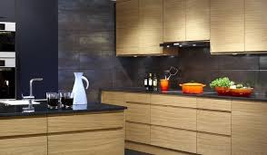 plan de cuisine moderne avec ilot central cuisine moderne bois chêne