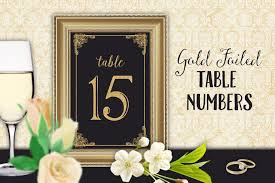 gold wedding table numbers table numbers wedding reception graphics creative market