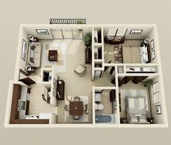 appartement 2 chambre 50 plans en 3d d appartement avec 1 chambres small patio