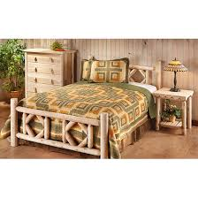 Cabin Bedroom Furniture Sets by Castlecreek Diamond Cedar Log Bed King 297899 Bedroom Sets At