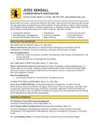 criminal investigator cover letter private investigator cover