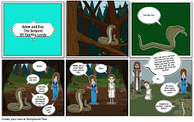 adam and eve the serpent storyboard by tabithalandy