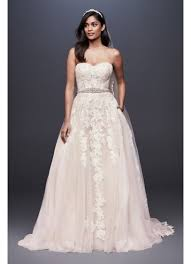 gown wedding dresses sheer lace and tulle gown wedding dress david s bridal