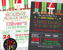 party invitations pajama party invite etsy