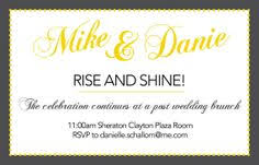 post wedding brunch invitations join us at a brunch honoring mr and mrs elopement or