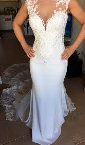 where can i sell my wedding dress berta inspired custom made wedding gown new without tags sell