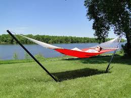 poolside hammocks with stands