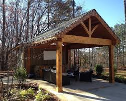 Covered Patio Ideas Lake House Covered Patio With Fire Place Patio Design Ideas 1353